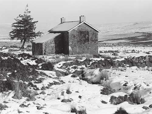 Nuns Cross Farm on Dartmoor in Winter